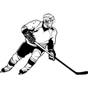 Best Hockey Player Coloring Page  Auto Electrical Wiring Diagram