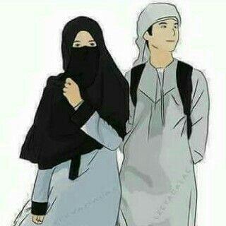 80 Gambar Kartun Muslimah Romantis Gratis Terbaik
