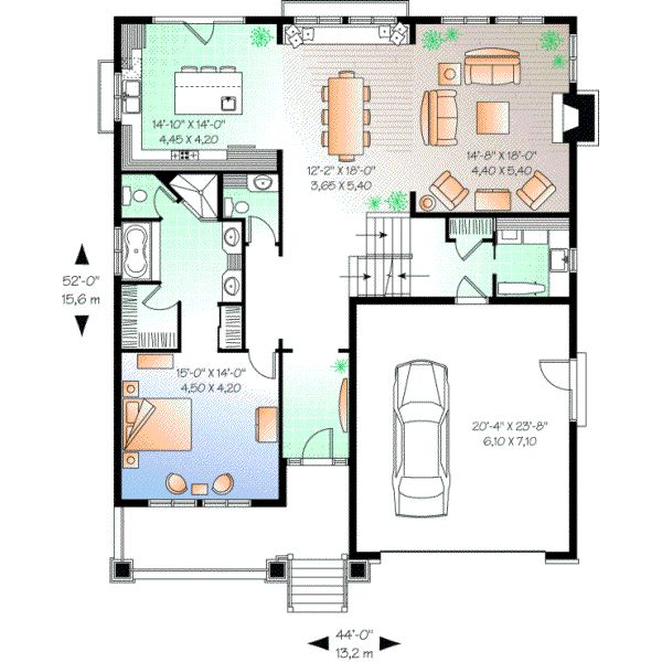 Bungalow Style House Plans 2309 Square Foot Home 2 Story 3 Bedroom And