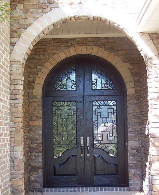 Front Doors Love The Radius Top But Still Rectangle Doors Shut The Front Door Pinterest
