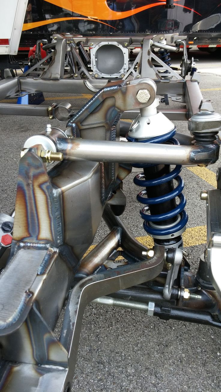 Tog welded fabricated front coilover suspension on a