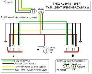 85 Chevy Truck Wiring Diagram | typical wiring schematic  diagram for 1973  1987 Chevrolet