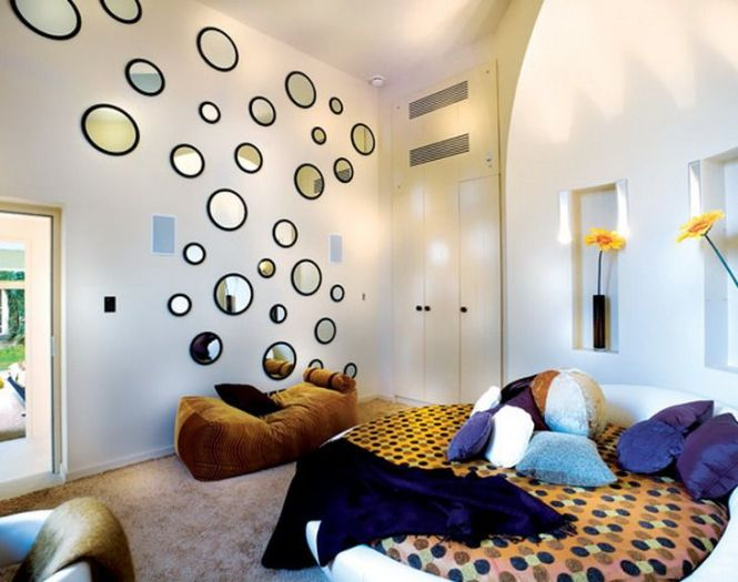 Beautiful Wall Art Mirror In Small Bedroom Decorating Designs Pinterest And Decorations