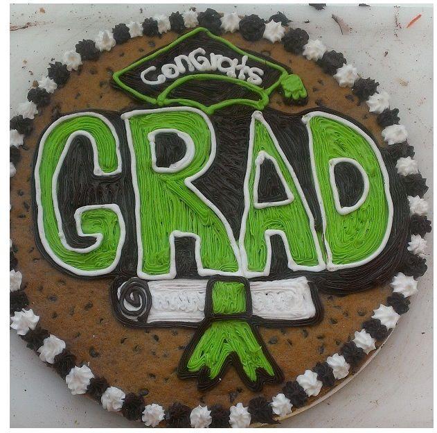 Cute Graduation Cookie Cake Idea Cookie Cake Ideas