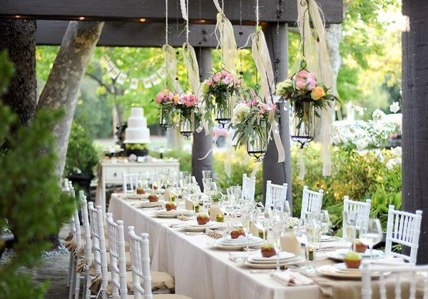 Amazing Garden Wedding Reception Decor