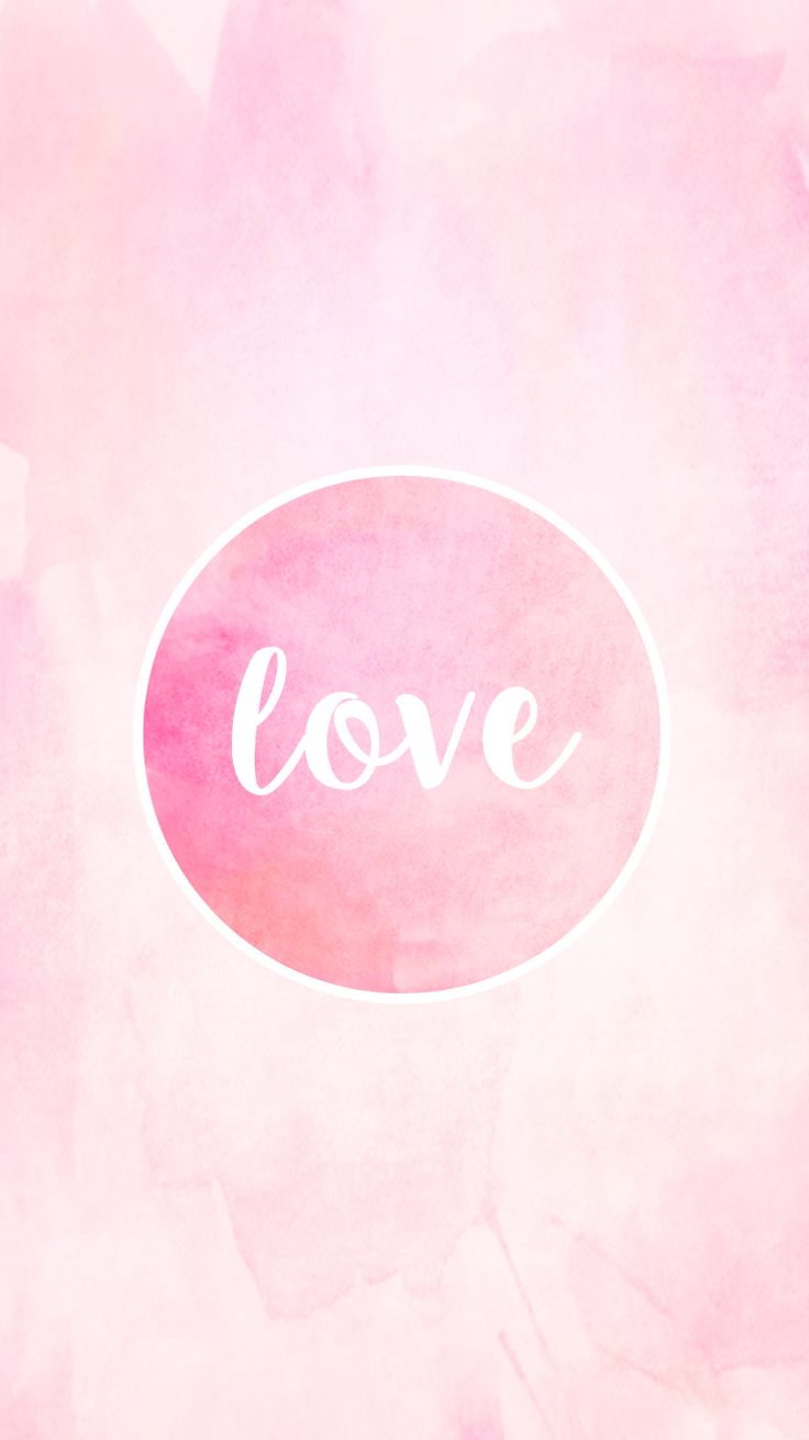 Love Watercolor Free IPhone Lock Screen Backgrounds