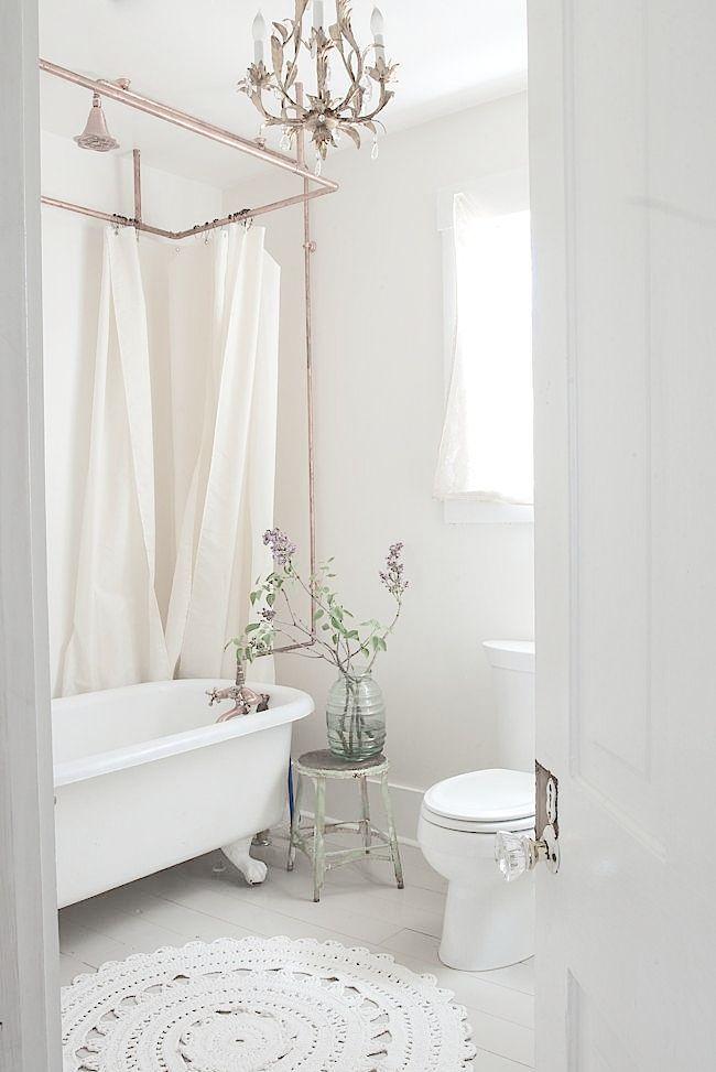 Traditional Bathroom Chandelier Clawfoot Tub Boutique