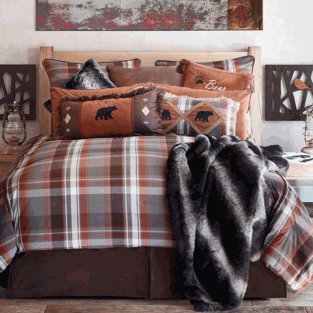 1000 Ideas About Plaid Bedding On Pinterest Orange