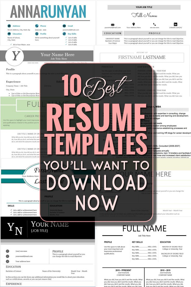 1000 ideas about best resume template on pinterest best resume