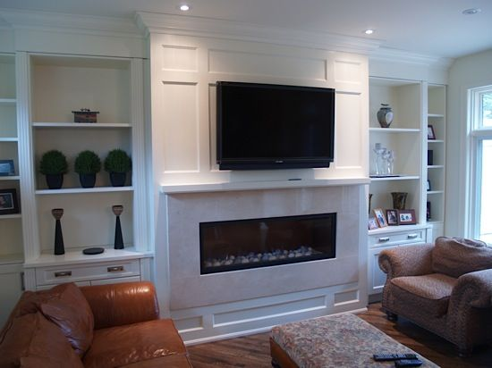 TVfireplace Wall With Built Ins And Mouldingtrimwork Decor Ideas Pinterest Craftsman