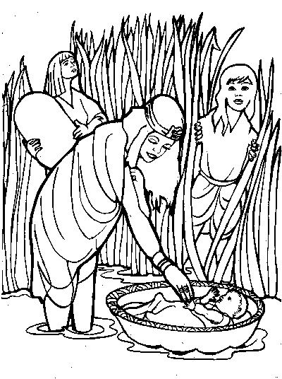 baby moses coloring pages and coloring on pinterest