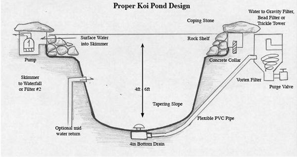Koi Pond Pipework Layout