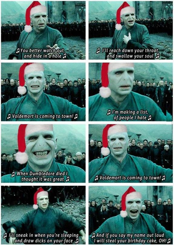 Voldemort Christmas Song... im in tears Hogwarts