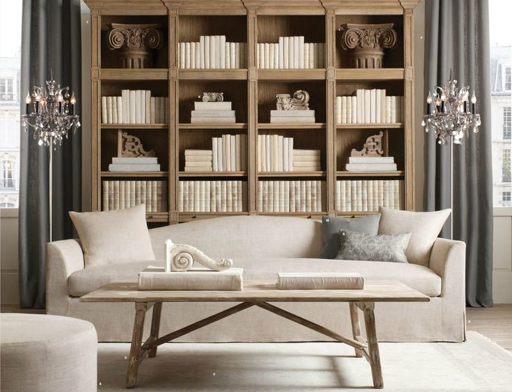 Restoration Hardware Living Room Pinterest Shelves