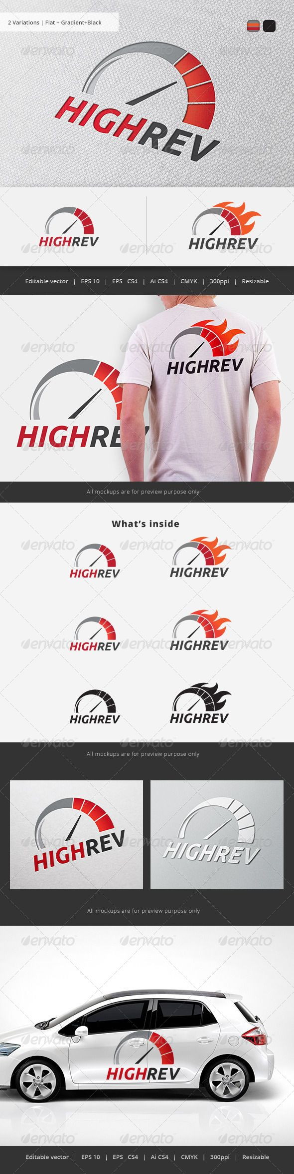 High Rev Speedo Logo Pinterest Cars, Redline and Fonts