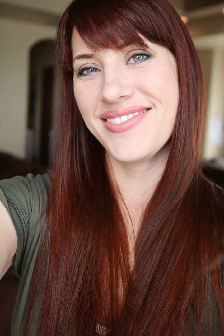 Henna Hair Dye Tutorial DIY For Medium Brown Hair Before