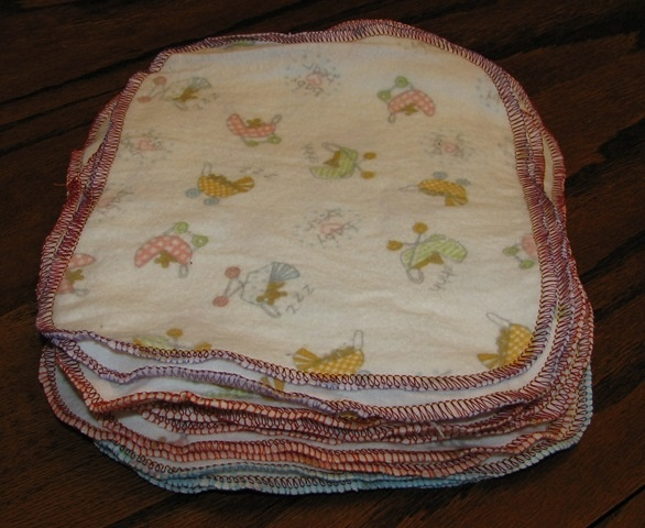 DIY baby wipes One side is (from receiving