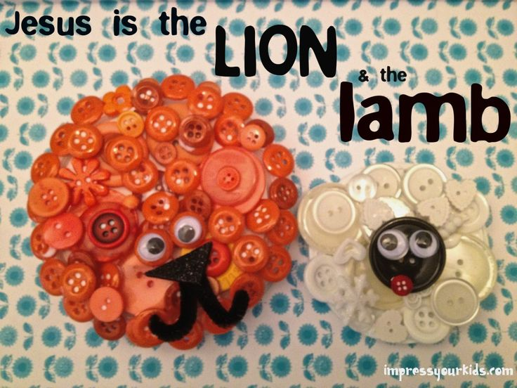 Fun last-day-of-March craft: in like a lion, out like a lamb! :)