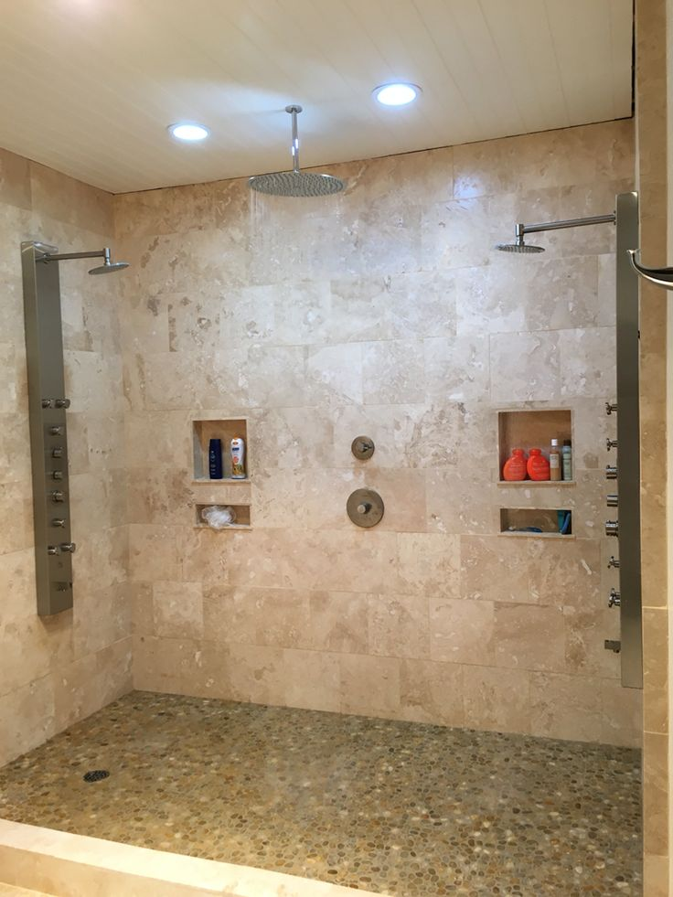 1000 Ideas About Travertine Shower On Pinterest Two