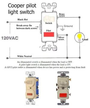 How to Wire Pilot Light Switch Electrical Info PICS | Non