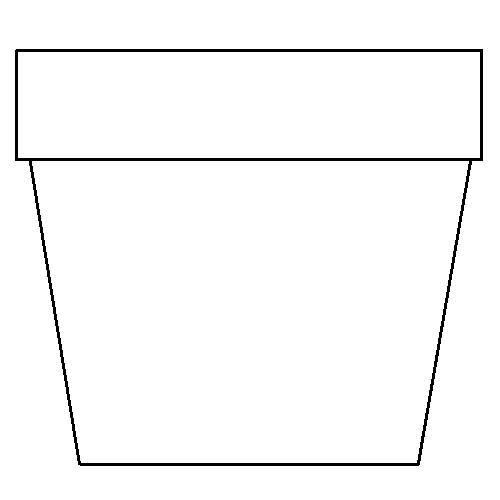 flower pot coloring page more flower pot coloring page plant pot