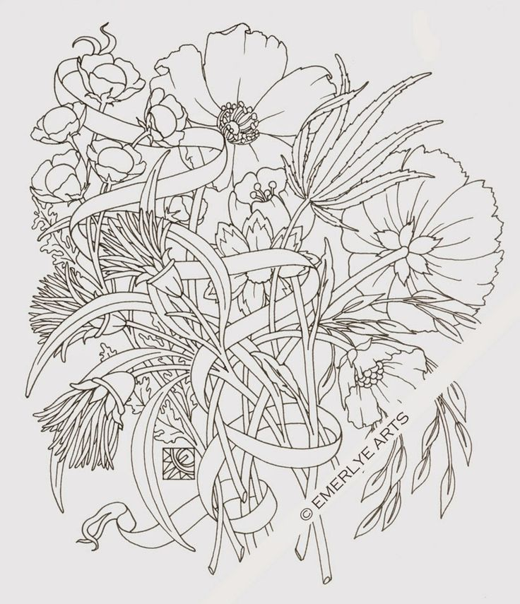 """""""woven stems"""" a hempcannabis coloring page for a new"""