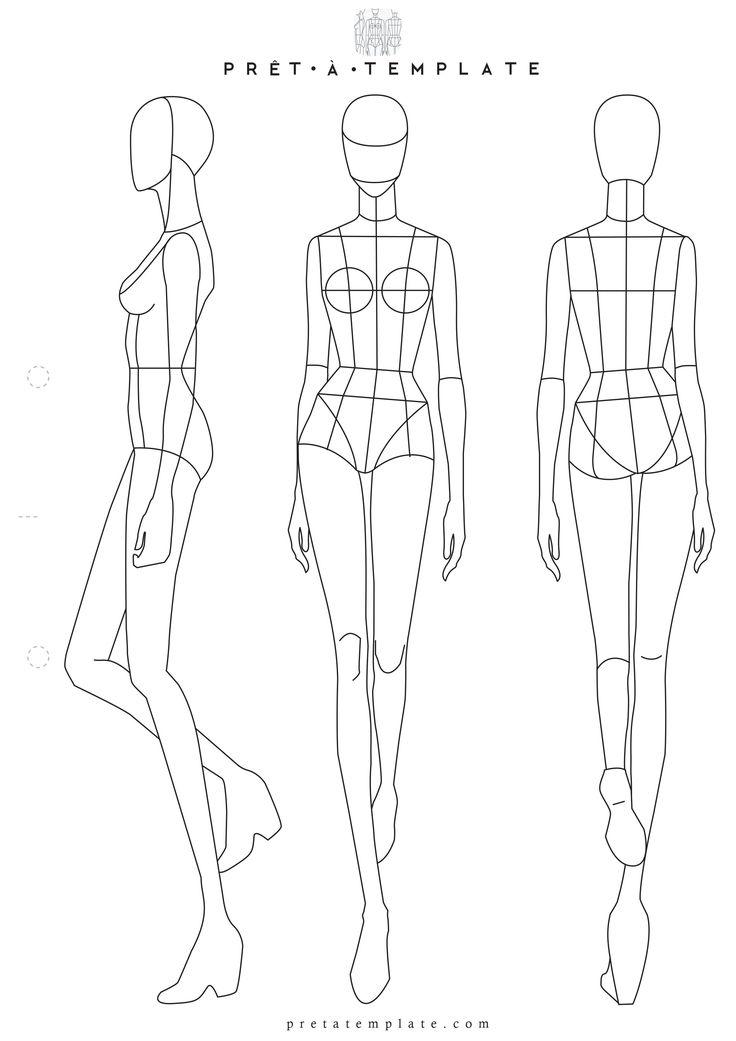 Design Professional Plus Size Fashion Body Templates