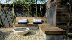 Backyard Built In Seating Garden Outdoor Pinterest