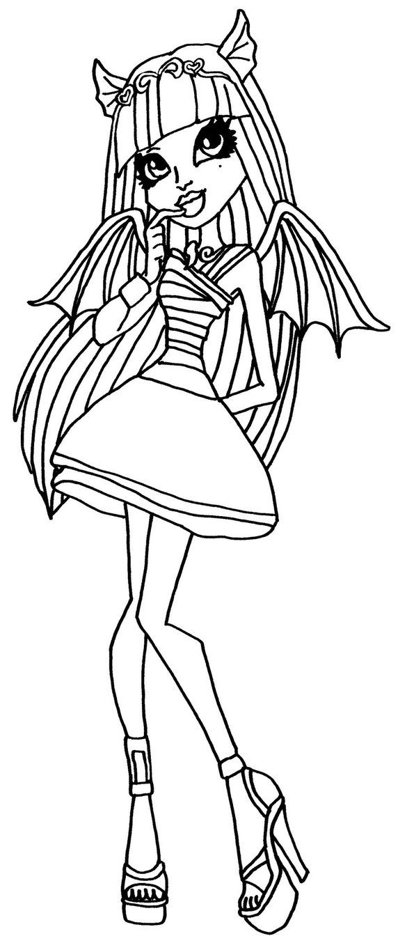 Rochelle Goyle Monster High Coloring Page Monster High