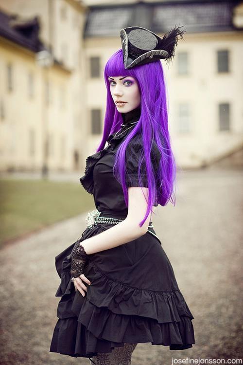 Purple Gothic Hair My Hair Obsession Pinterest
