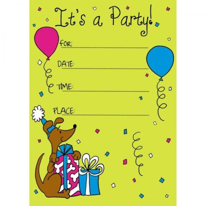 Kids birthday invitation cards free printable dulahotw printable scooby doo theme kids birthday party invitations with yellow background 26 best images about birthdays invitation on kids filmwisefo