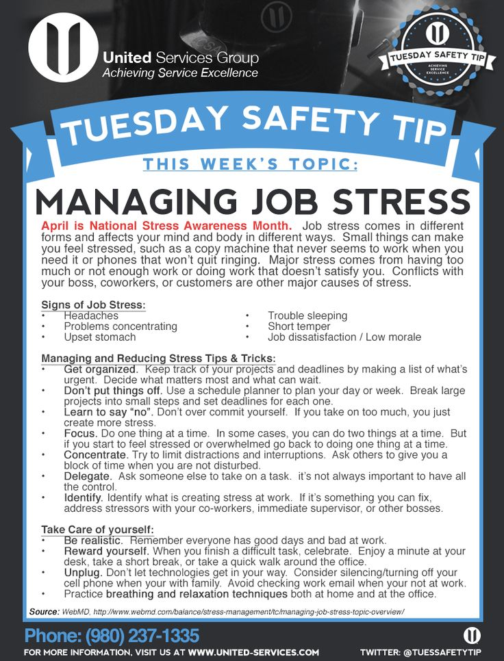 This week's Tuesday Safety Tip is about the Managing Job