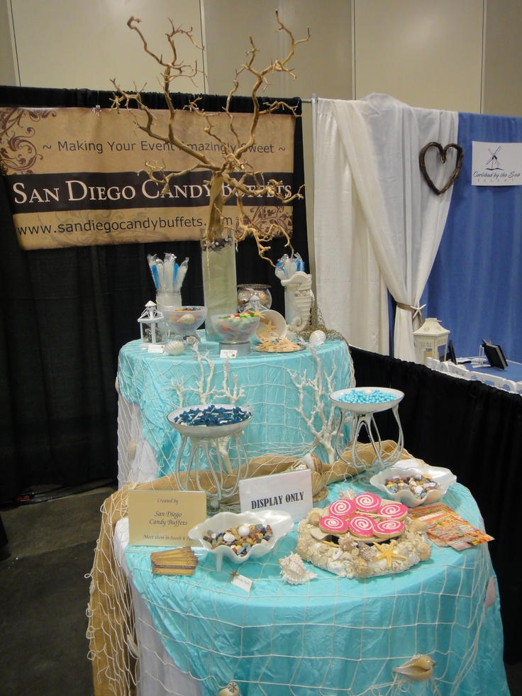 Beachthemed candy bar, San Diego Candy Buffets, 920/200