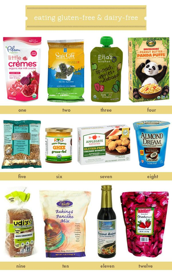 gluten free and dairy free kids' foods and snacks