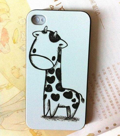 cute giraffe iphone 5 case iphone 4 case covers unique by vamor, $14.50