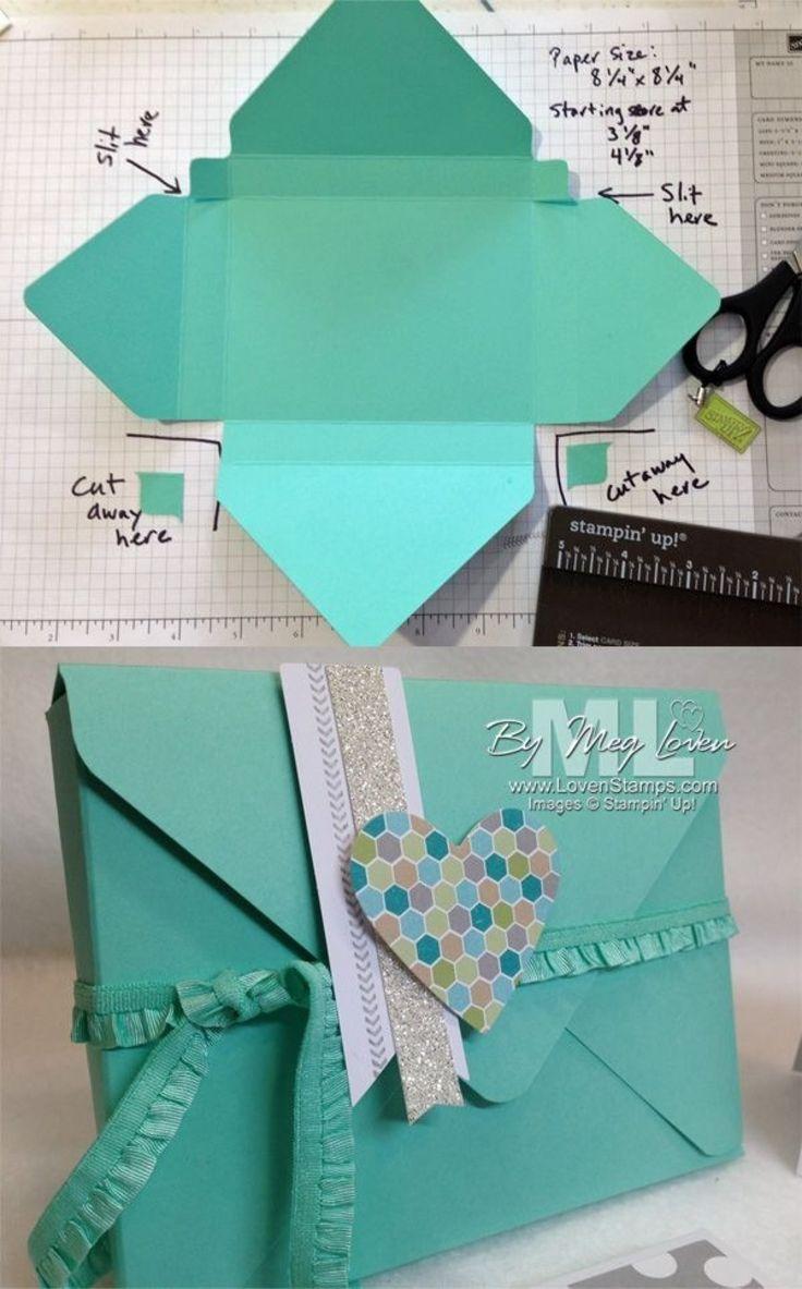 手工达人DIY的礼品包装 paper Pinterest Beautiful, Diy envelope
