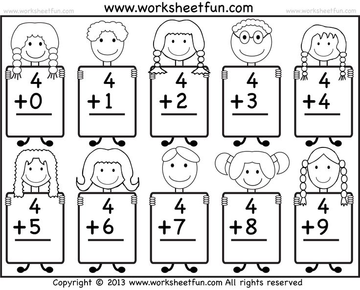 Printable Math Worksheets For Kindergarten Addition Davezan – Printable Math Worksheets for Preschool