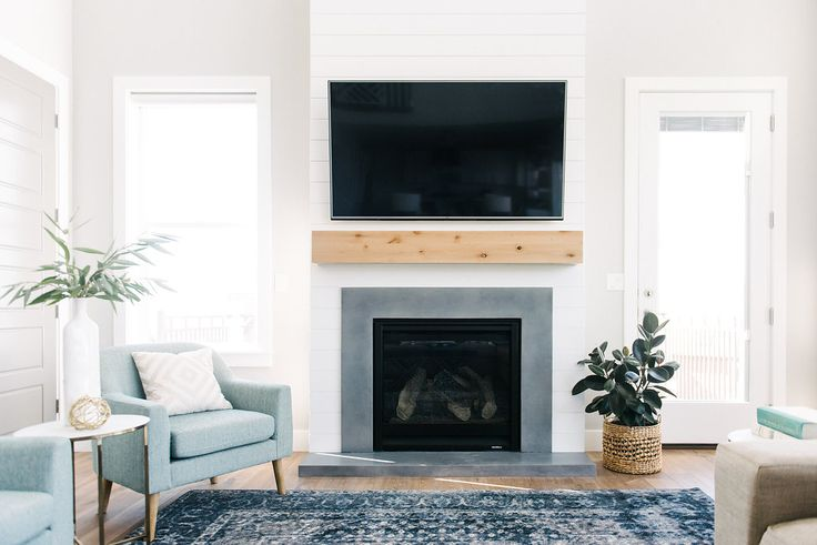 Love This Fireplace The Combination Of Natural Wood