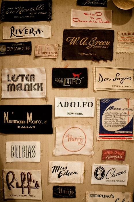 vintage clothing labels Vintage (and vintage inspired