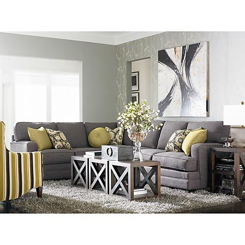 Living room - mustard + grey
