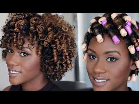 Natural Hair Tutorial Perm Rod Set Video Pinterest