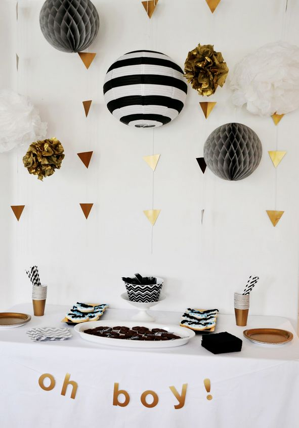 black and white monochrome party