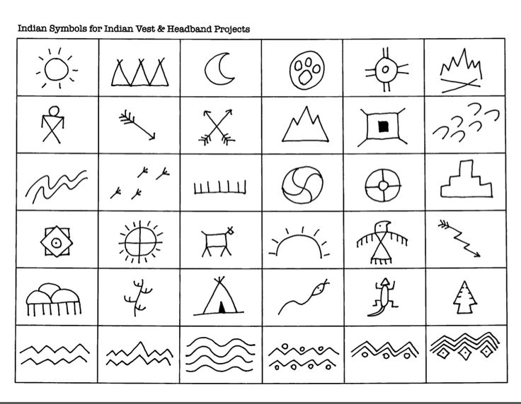 Indian Symbols For Indian Vest Amp Headband Projects Art