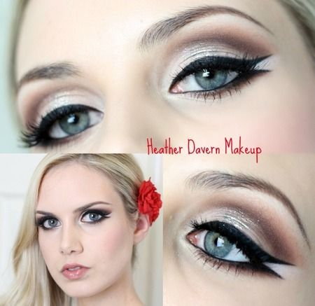 Best eye makeup for black and white dress