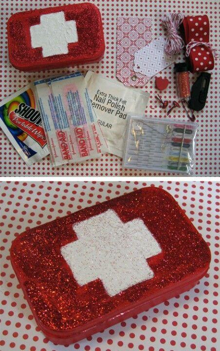 Altoid Tin Craft Idea Mini First Aid Kit For Car Purse Or
