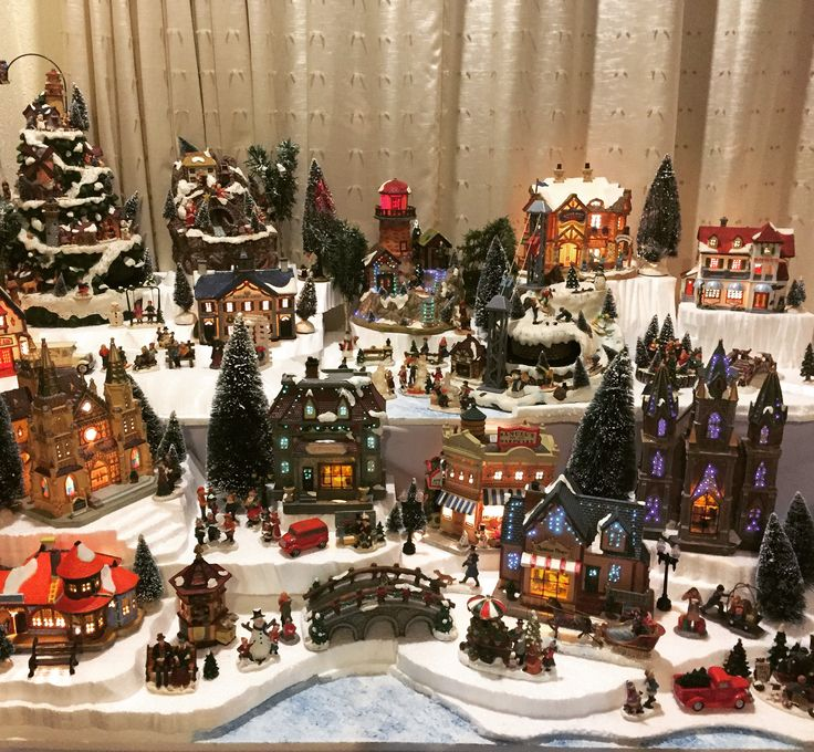 miniature town xmas decorations - Miniature Christmas Town Decorations