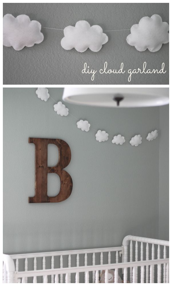 DIY Cloud Garland Tutorial // Blissfully Blessed – This would be cute paired with a rainbow garland