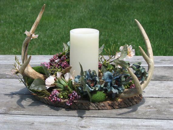 Rustic Deer Antler Flower By TheVineDesigns On Etsy Fran