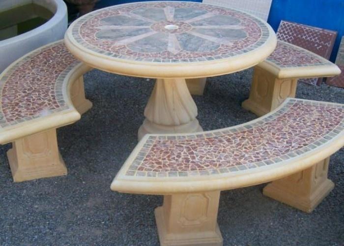 Garden+Furniture Precast Concrete tables; Patio outdoor