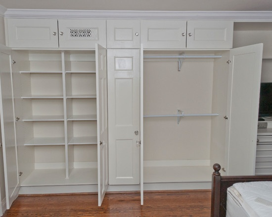 Closet Unfinished Wall Cabinets Design